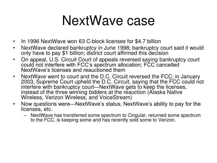 NextWave case