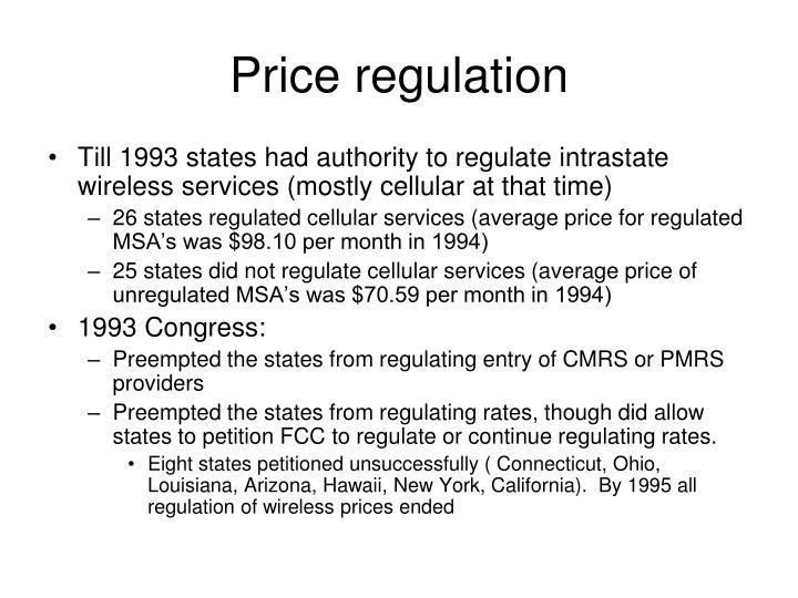 Price regulation