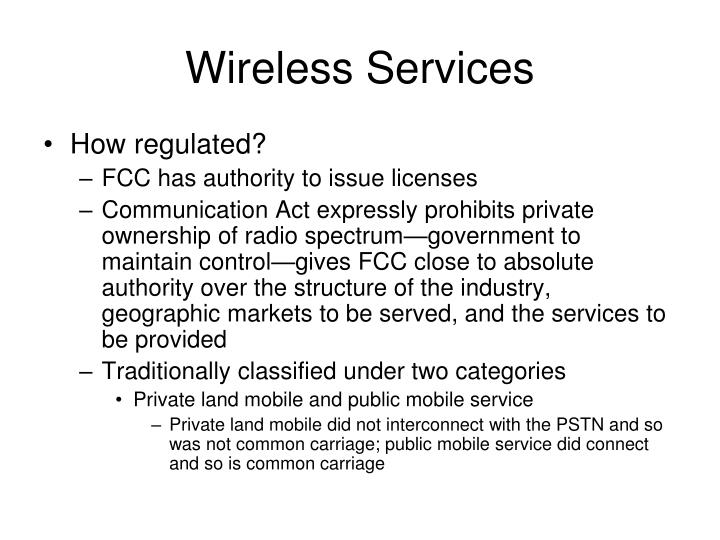 Wireless Services