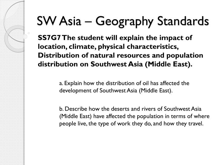 Sw asia geography standards2