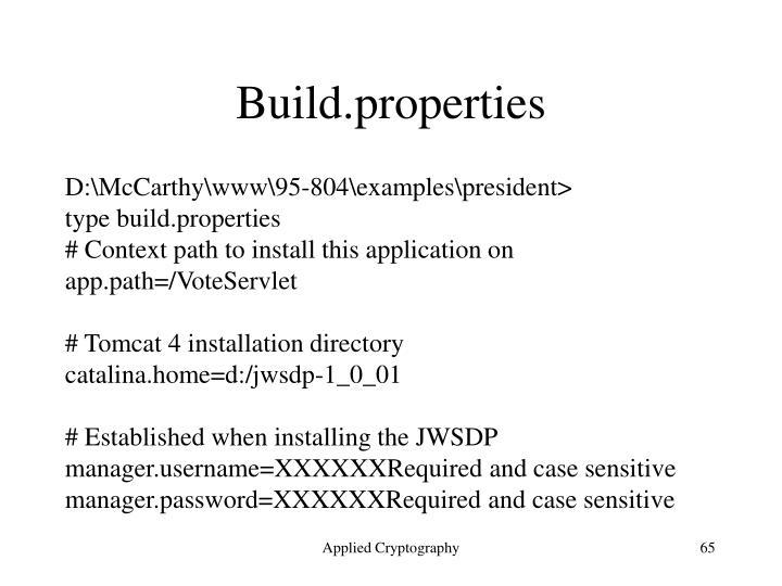 Build.properties