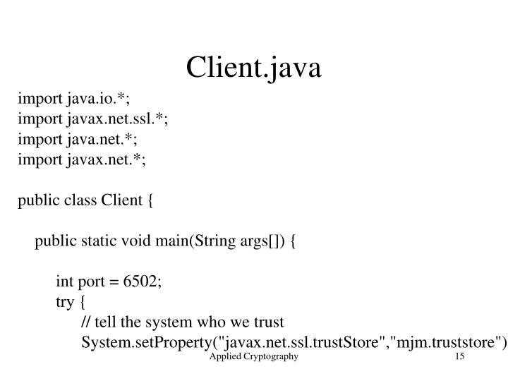 Client.java