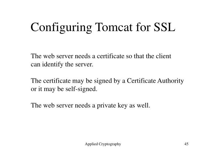Configuring Tomcat for SSL