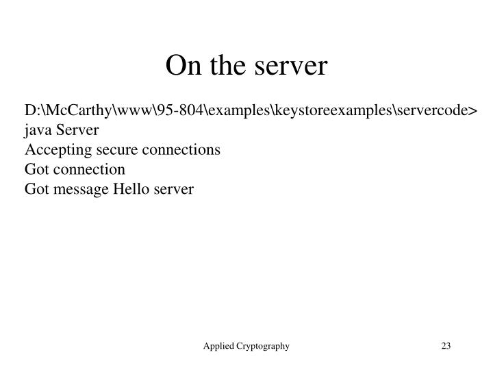 On the server