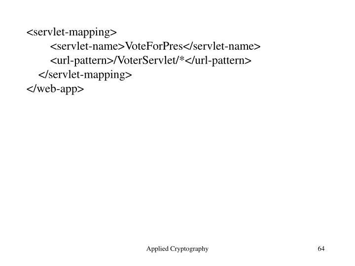 <servlet-mapping>