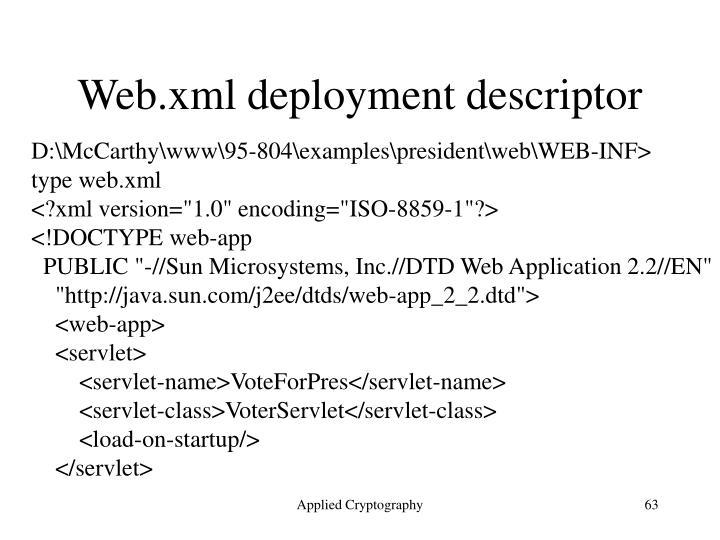 Web.xml deployment descriptor