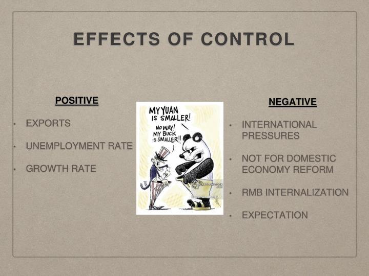 EFFECTS OF CONTROL