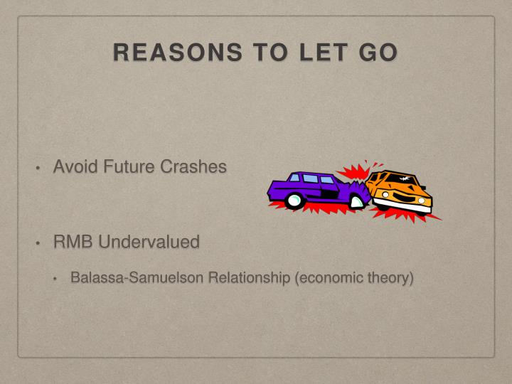 REASONS TO LET GO
