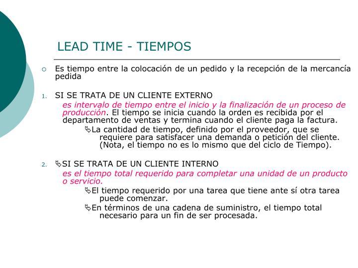 LEAD TIME - TIEMPOS