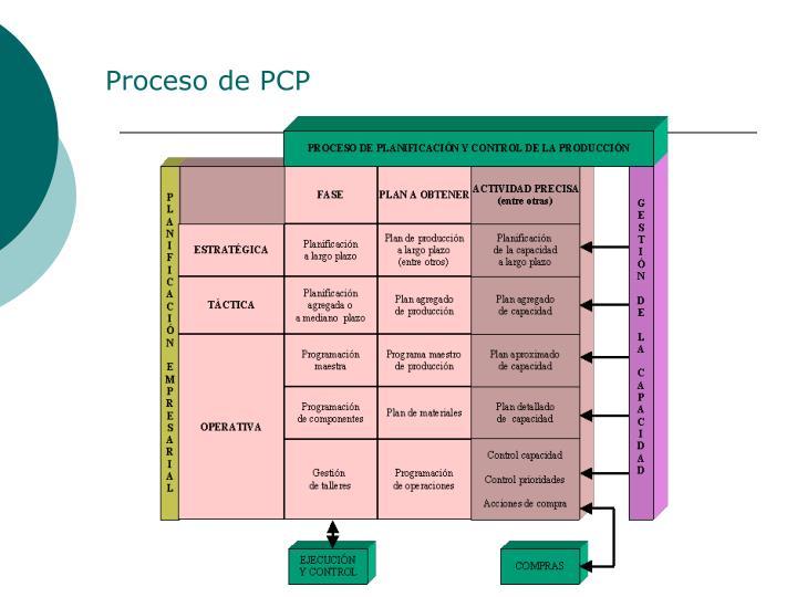Proceso de PCP