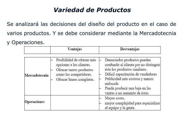 Variedad de Productos