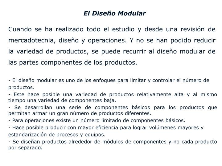 El Diseño Modular