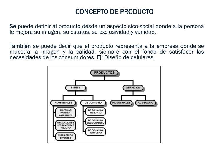 CONCEPTO DE PRODUCTO