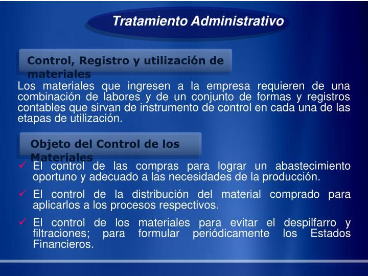 Tratamiento Administrativo