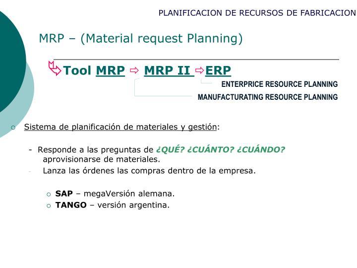 MRP – (