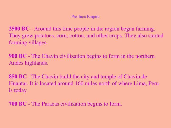 Pre-Inca Empire