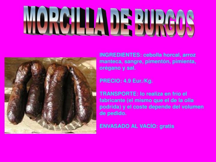 MORCILLA DE BURGOS