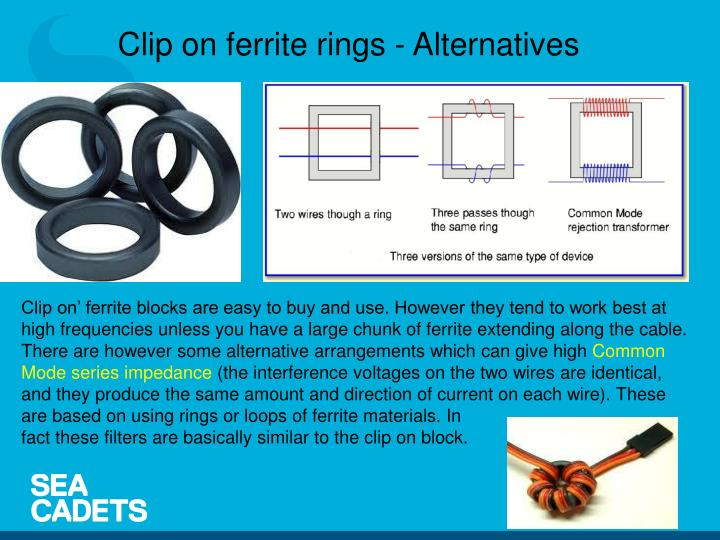 Clip on ferrite rings - Alternatives