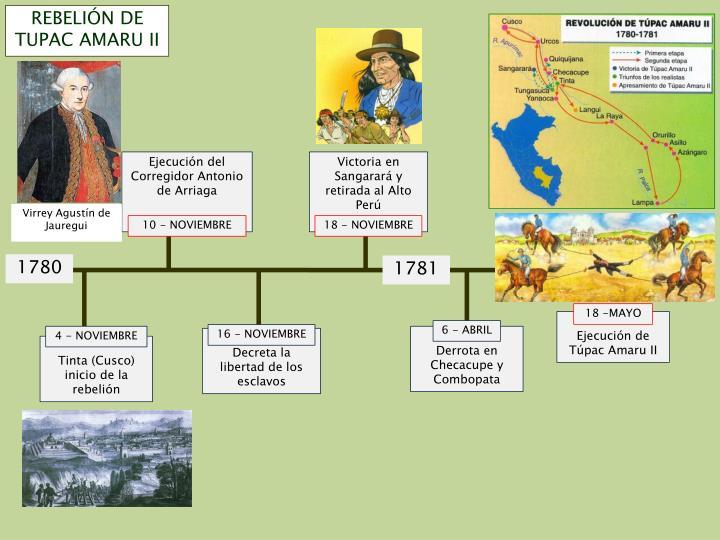 REBELIÓN DE TUPAC AMARU II