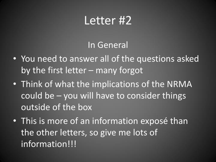 Letter #2