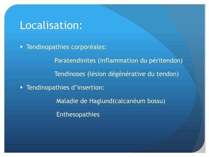Localisation: