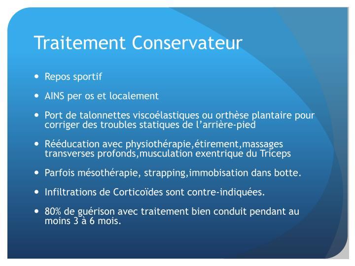 Traitement Conservateur