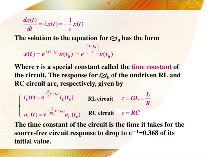 The solution to the equation for