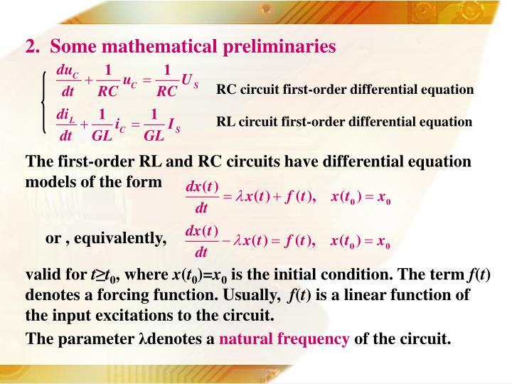 2.  Some mathematical preliminaries