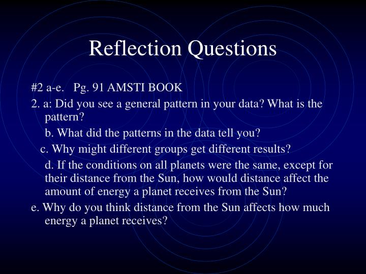 Reflection Questions