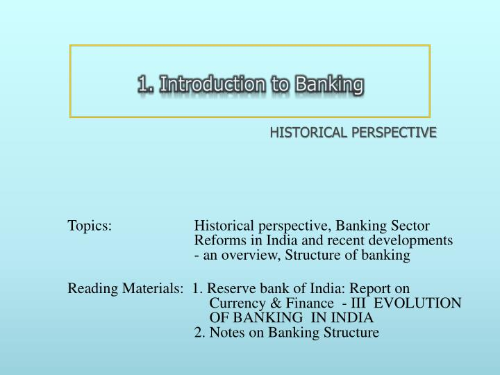1. Introduction to Banking
