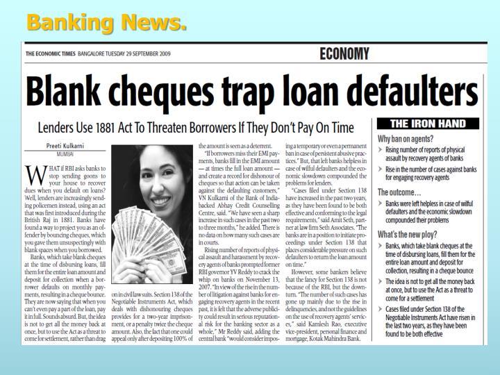 Banking News.