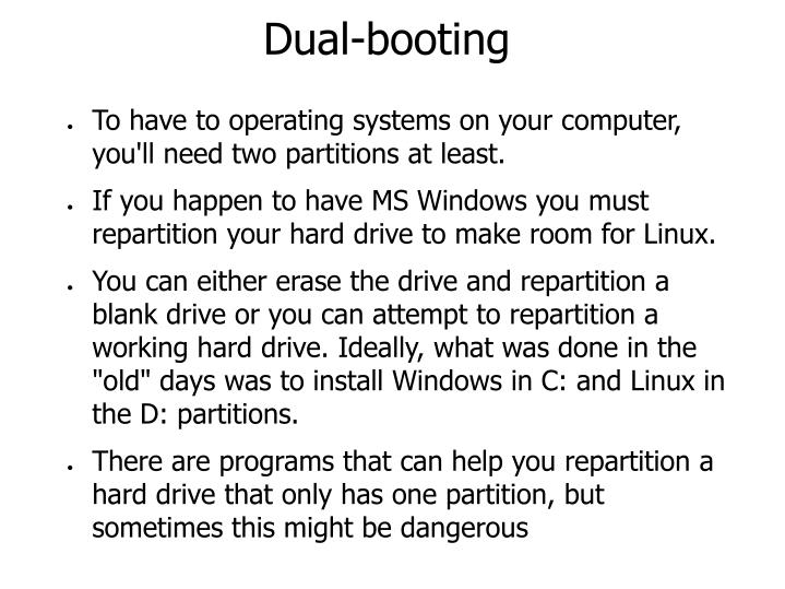 Dual-booting