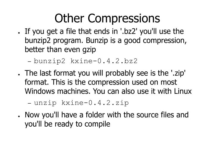 Other Compressions