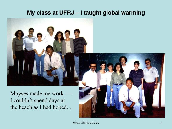 My class at UFRJ – I taught global warming