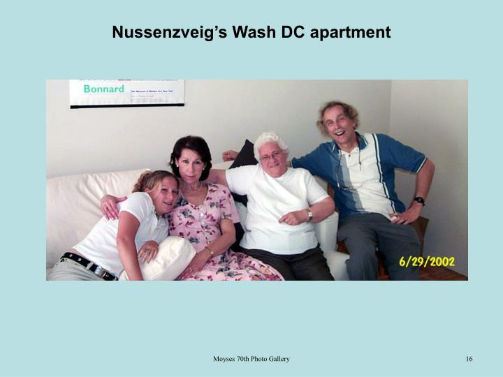 Nussenzveig's Wash DC apartment
