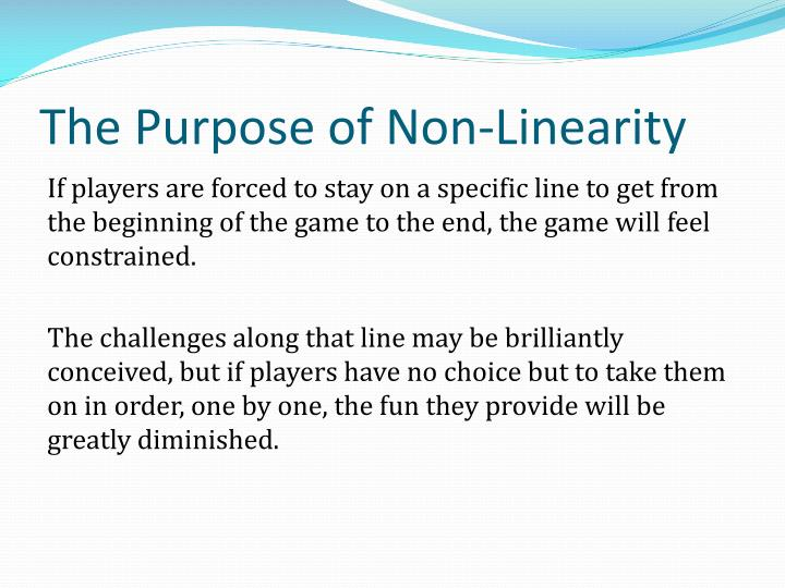 The Purpose of Non-Linearity