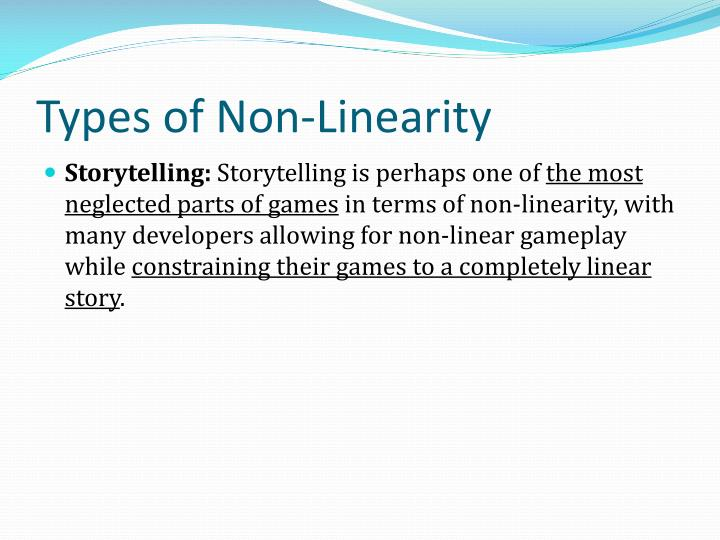 Types of Non-Linearity