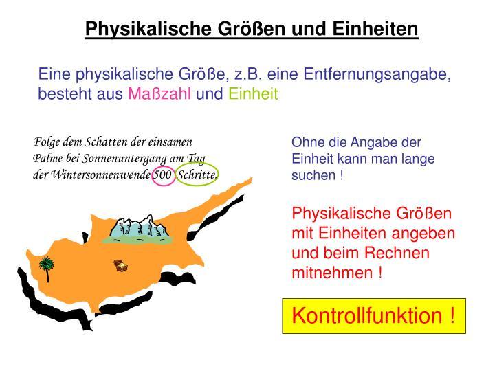 Physikalische Größen und Einheiten