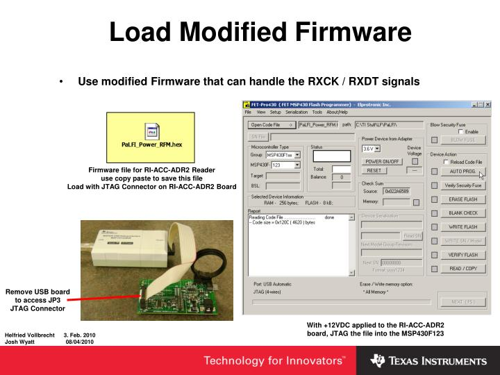 Load Modified Firmware