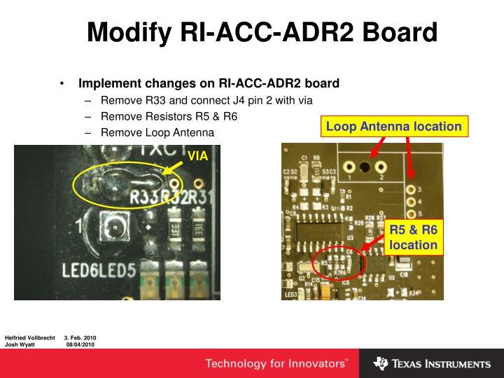 Modify RI-ACC-ADR2 Board