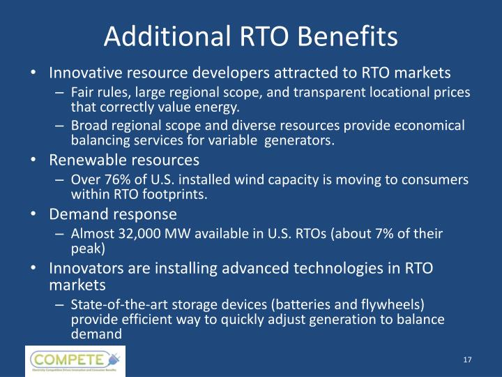Additional RTO Benefits