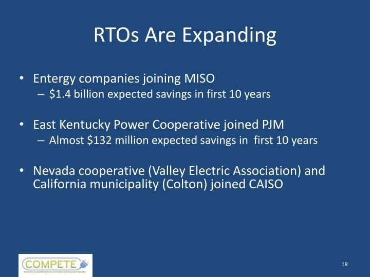 RTOs Are Expanding