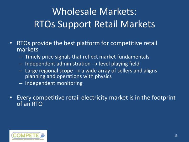 Wholesale Markets: