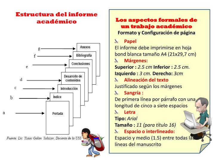 Estructura del informe académico
