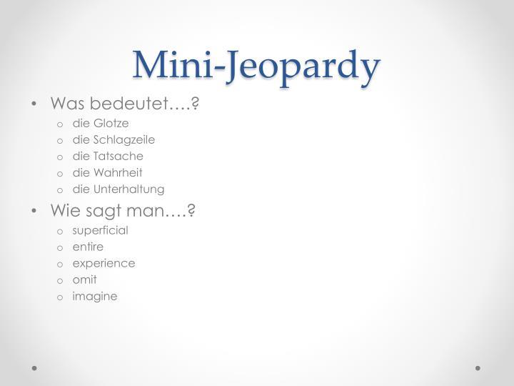 Mini-Jeopardy