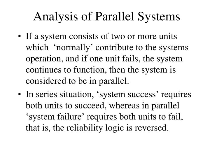 Analysis of Parallel Systems