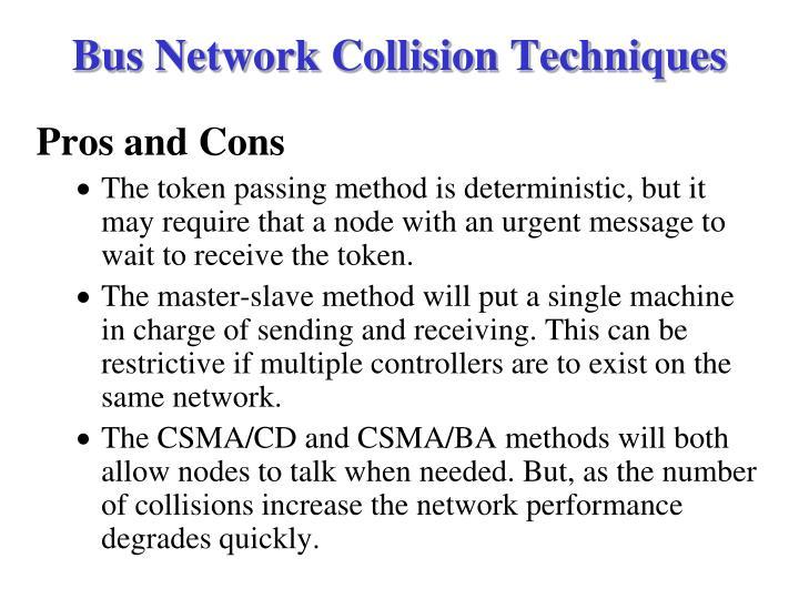 Bus Network Collision Techniques