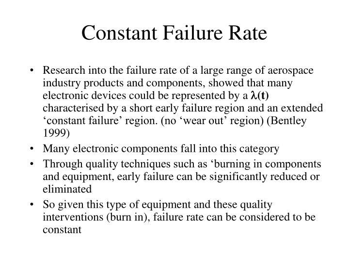 Constant Failure Rate