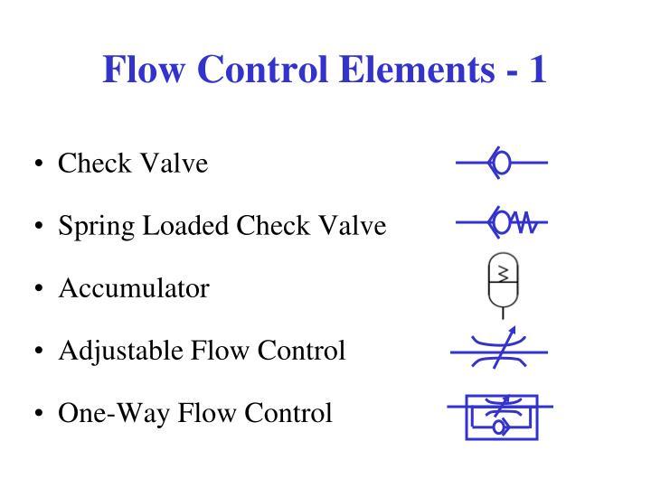 Flow Control Elements - 1