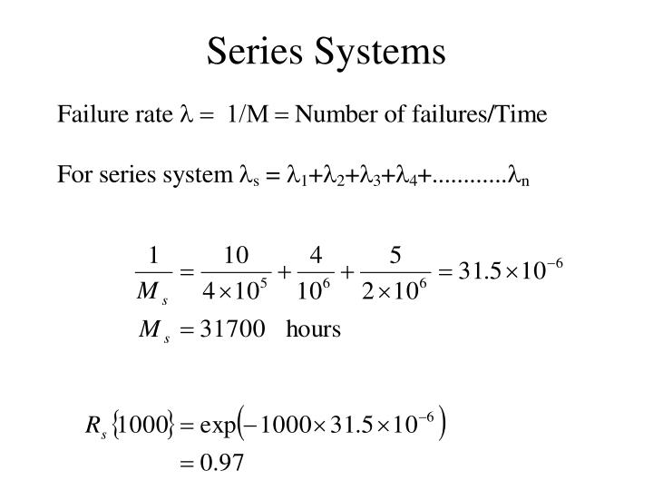 Series Systems